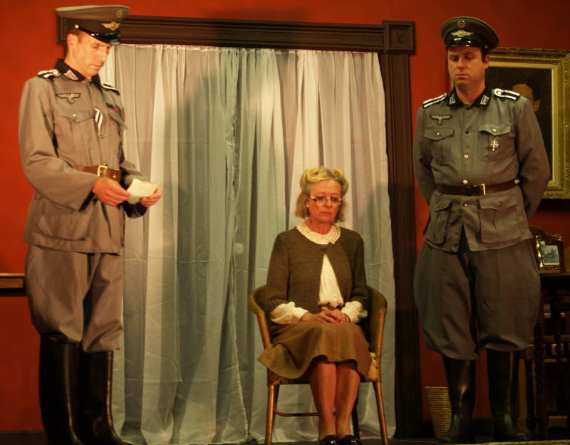 The Dame of Sark - Colonel von Schmettau, Sybil Hathaway and Dr Braun